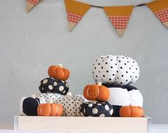 DIY Stuffed Fabric Pumpkin Tutorial                     {I'm Going to Make a Pincushion Out of One of These K.H.}