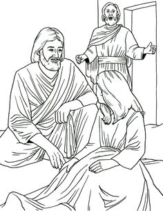 Kids Coloring Page Of Jairus Daughter Healed By Jesus Christ Download Free Religious Images And Christian