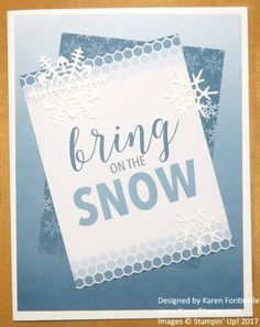 Make a snowy day card in the hot summertime with Stampin' Up! Color Theory products and Memories & More product line.  https://www.stampinup.com/ecweb/ProductDetails.aspx?productID=144210&dbwsdemoid=54345