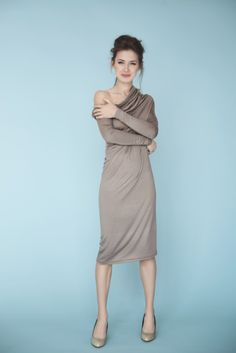 Asymmetric Muse Dress - all about the shoulder ;) Elegant, sexy, minimalistic. Available at www.balticdesigns.nl