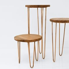 Aldama Side Tables - Copper