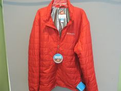 Columbia Omni Heat Thermal Reflective Bright Red Quilted Jacket SZ 2XL NWT  #Columbia #BasicJacket