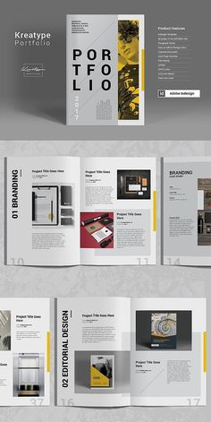 The Kreatype Photography Portfolio template contains 28 pages that are suitable for any project purpose, very easy to use, edit and customize to your needs. Portfolio Design Layouts, Page Layout Design, Magazine Layout Design, Magazine Layouts, Brochure Design Inspiration, Mise En Page Portfolio, Portfolio Web, Indesign Portfolio, Company Portfolio