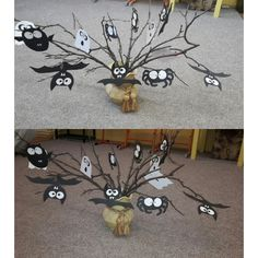 Halloween,  pavouci, ,netopýři,  duchové. Tvoření s dětmi ve družině.