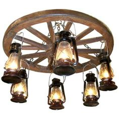 Ravens 6 Light Wagon Wheel Chandelier
