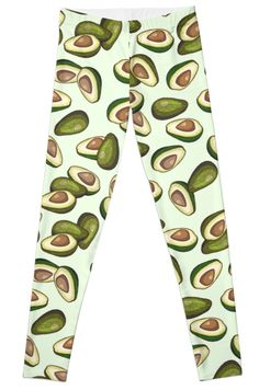 Avocados Forever   Avocado Pattern   Patterned   Avocado   Leggings   Women's Fashion   SmallDrawing