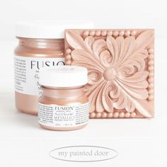 Rose Gold - Metallic Collection - Fusion Mineral Paint — My Painted Door Gold Painted Walls, Gold Painted Furniture, Painted Doors, Paint Furniture, Furniture Ideas, Metallic Furniture, Furniture Makeover, Rose Gold Metallic Paint, Rose Gold Painting