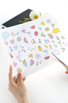 FREE Printable Diary Stickers