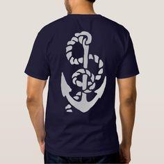 Navy Ships Anchor Nautical Back Print Shirt #zazzle #nautical