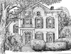 Pen and Ink House Drawing-Original Custom Portrait of Your Home