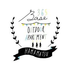 「365BASE outdoor apartment hamamatsu」バナー用イラスト