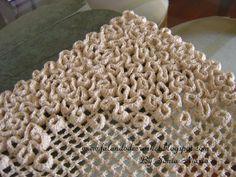 Tapete De Crochet - Crochet Filé - Ponto Tela - Pontos Sobrepostos - Flores (Crocheted Rug - Wiggly Crochet) - (Alfombra De Crochet) - Croché