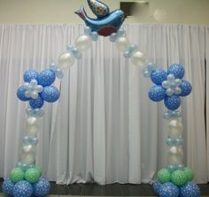 First Communion Balloon Decorations | Baptism or First Communion