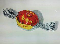 초콜릿봉지 은박지 연습 :버밀리온+브릴리언트레드, 퍼머넌트옐로, 블루그레이+아이보리블랙