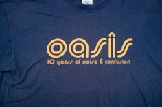 Rare OASIS 10 years of noise and confusion 2001 tour T-Shirt. | eBay!
