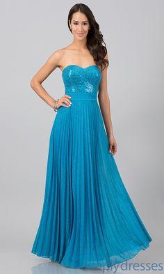Dress, Floor Length Strapless Sweetheart Dress - Simply Dresses $49