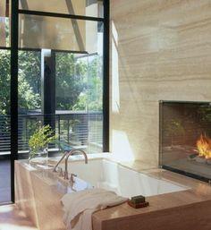 Outrageous Bathtubs | Amazing bathtub designs - Fireplace tub