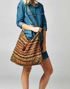 9208e62d370b Savannah Woven Shoulder Bag from Gypsy Outfitters - Boho Luxe Boutique
