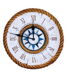 Nautical Decor Compass Rose Clock  item 313