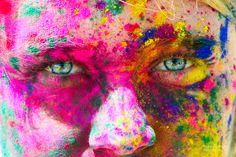 facebook.com/hopecurranphoto #holifestival holi chalk festival!