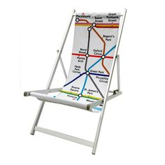 Tube map print deckchair from Transport for London
