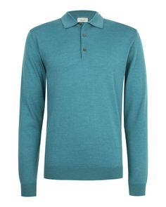 Long sleeve polo (Chase) - Knitwear- Nigel Hall- #menswear #nigelhall