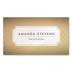 Elegant Gold Metallic Business Cards. Make your own business card with this great design. All you need is to add your info to this template. Click the image to try it out!