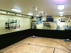 Indoor Home Court for all sports by SnapSports traditional home gym Home Basketball Court, Indoor Basketball Hoop, New York Basketball, Jazz Basketball, Basketball Uniforms, Sports Court, Metal Barn Homes, Basketball Schedule