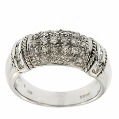 0.60 Cttw G VS Round Brilliant Cut Diamonds Cocktail Ring in 14K White Gold by GetDiamondsDirect on Etsy