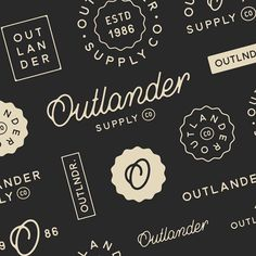 """1,310 Likes, 11 Comments - Mark van Leeuwen (@markvanleeuwn) on Instagram: """"A vast array of design exploration for the branding work I did for Outlander Supply Co. - it was…"""""""