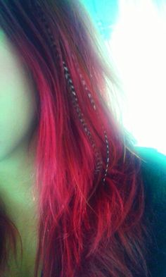 My feather extensions.