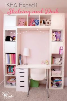 Best IKEA Hacks and DIY Hack Ideas for Furniture Projects and Home Decor from IKEA - IKEA Expedit Shelving And Desk - Creative IKEA Hack Tutorials for DIY Platform Bed, Desk, Vanity, Dresser, Coffee Table, Storage and Kitchen, Bedroom and Bathroom Decor http://diyjoy.com/best-ikea-hacks