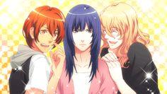 Otoya, Masato y Natsuki. Después de perder en Water Polo. Uta no Prince-sama Repeat