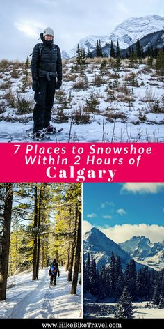 Where can you snowshoe within 2 hours of Calgary?These 7 places are all great options to get the happy hormones pumping in winter. Driving time included in post Winter Hiking, Winter Camping, Winter Fun, 7 Places, Cool Places To Visit, Alberta Travel, Discover Canada, Visit Canada, Adventure Activities