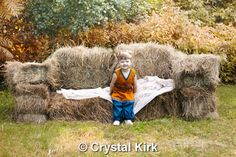 Gotta love a fun outdoor prop such as a couch made from hay