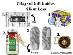 7 Days Of Gift Guides Day 7: Here are 5 last-minute gifts for less than $15: http://blissfullybrunette.com/?p=5351