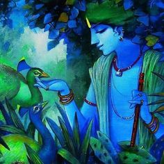 Lord Krishna stories have united devotes the world over. What is it about Krishna that unites and charms. Why's he the universal spirit. Lord Krishna Stories, The Magic Faraway Tree, Krishna Radha, Krishna Leela, Durga, Indian Art Paintings, Indian Artwork, Krishna Painting, India Art
