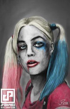 """Harley Quinn"" Art Illustration By  #JeremainePatterson #HarleyQuinn #DcVillian #DcComics #DC #Gotham #GothamGirls #BatShitCrazy #ArkhamAsylum #Lunatic #Insane #KillerFashion #ILoveMyPuddin #DaddysLittleMonster #SuicideSquad"
