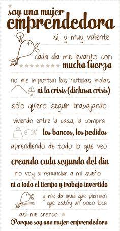 Soy mujer emprendedora! #ConTuMarca