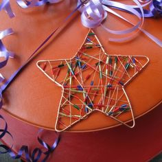 Ornament star beaded copper wire by TCMjewelryDesigns on Etsy