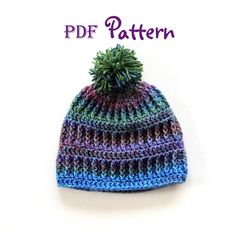PDF CROCHET PATTERN Snow Country Crochet Beanie by NorthernCottageGifts, $3.90