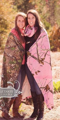 """Realtree Pink Throw, Womens Camo Wrap Blanket, Sweatshirt Feel Thin Jersey Fleece, 50x60"""", Real Tree Xtra or AP Pink Camouflage Throw on Etsy, $39.99"""