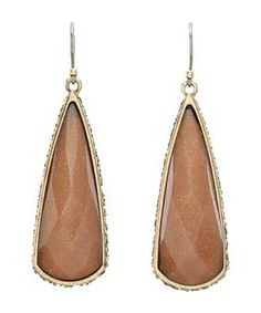 Lucky Brand Tough Love Oblong Drop Earrings #accessories  #jewelry  #earrings  https://www.heeyy.com/suggests/lucky-brand-tough-love-oblong-drop-earrings-topaz-gold/