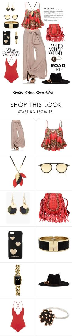 """""""Vacation! Let's Go To The Beach!"""" by shamrockclover ❤ liked on Polyvore featuring Swell, Marni, Garrett Leight, Chico's, Michael Kors, Kenneth Cole, Chanel, Gigi Burris Millinery, Emma Pake and Who What Wear"""