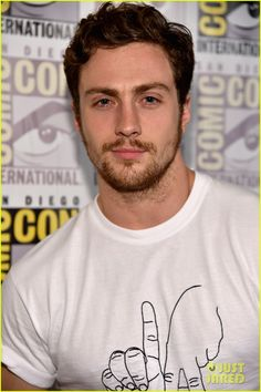 chris evans aaron taylor johnson avengers comic con 2014 23 Chris Evans goes in for a grab of Aaron Taylor-Johnson at the Avengers: Age Of Ultron panel held during 2014 Comic-Con on Saturday (July 26) in Hall H at the Convention…