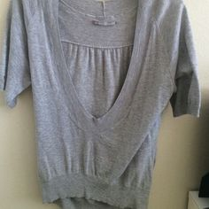 Nordstrom sweater Deep v and high front. Brand is rubbish Urban Outfitters Tops Tees - Short Sleeve