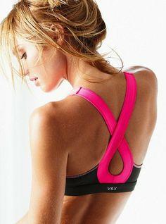Pink ribbon sports bra #RockTheLock