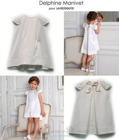 ROBE-DEMOISELLE-DHONNEUR-DELPHINE-MANIVET Baby Girl Fashion, Kids Fashion, Baby Posters, Page Boy, Couture, Clothing Items, Kids Outfits, White Dress, Flower Girl Dresses