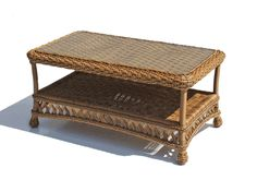 Outdoor Wicker Coffee Table   Montauk Shown In Natural