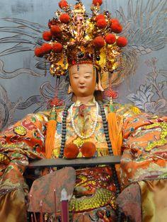 beeld van godin in tempel in Tainan